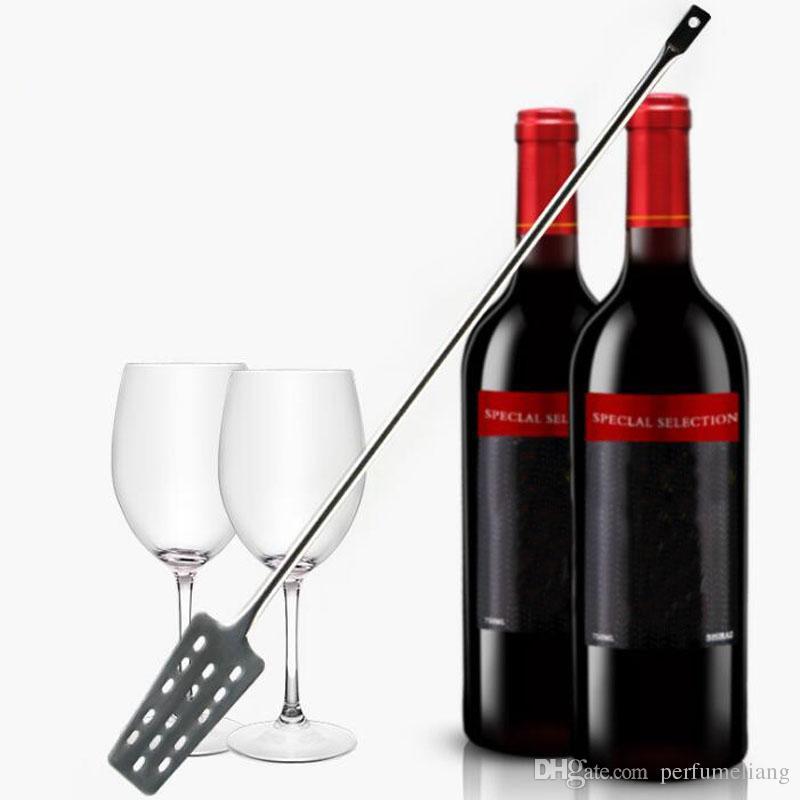 304 Aço Inoxidável Vinho Swizzle Vara Multifuncional Bar Longo Lidar Com Misturador De Vinho Poroso Remo Forma Brewing Ferramenta ZA6864
