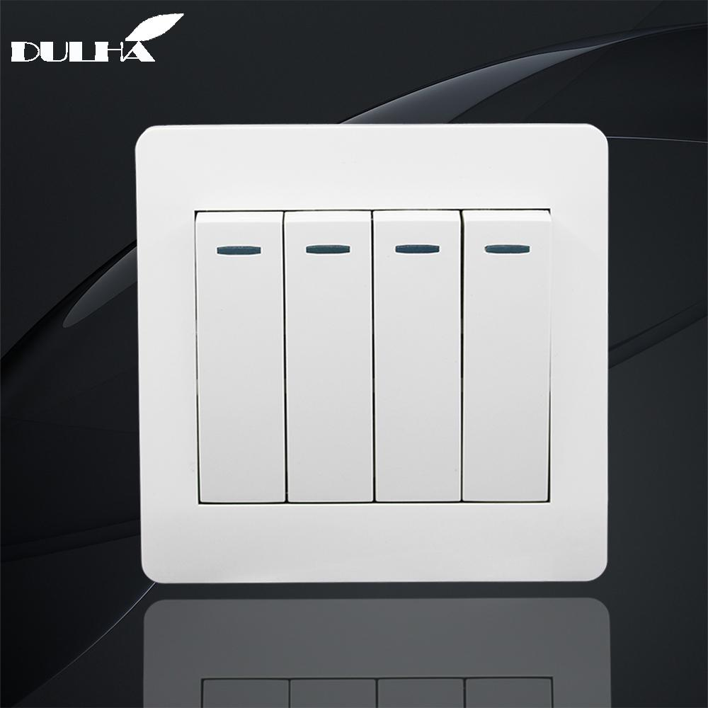 2018 10a 4 Gang 2 Way Light Wall Switch 110250v 220v Electrical What Is A Push Button White Pc Frame Panel Lamp Switches Factory Direct Sale From Fried
