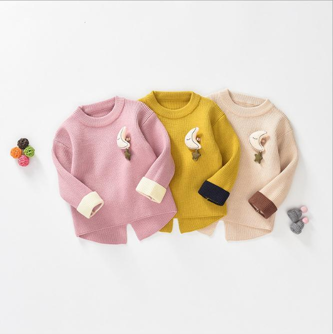 f8c23b63f315 Baby Autumn Winter Wear Baby Girl Cute MoonCoat Baby Sweet Sweater ...