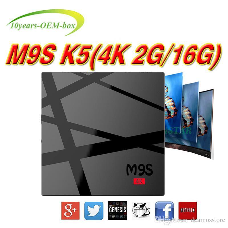 Quad Core M9S 4K RK3229 TV Box Android 6 0 2GB 16GB BT 4K Media Player IPTV  Box PK S6 Pro MXQ X96 T95X T95N T95M