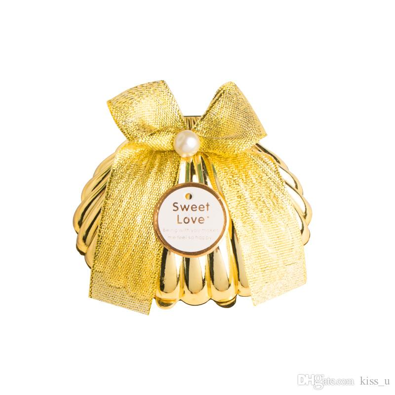 Plastic Gold Shell Wedding Favors Candy Boxes Chocolate Boxes Party