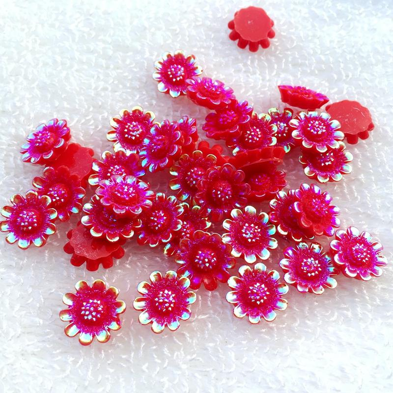 153e2a8a33 12mm Flower AB Resin Rhinestones Sewing Strass Craft Wholesale -Z091 ...