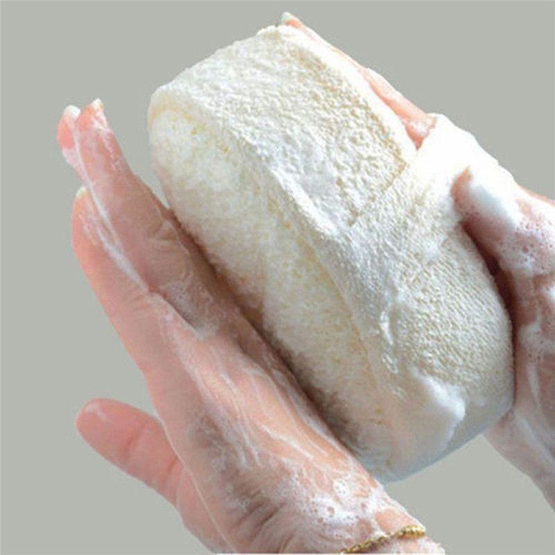 2018 Lackingone Natural Loofah Shower Sponge Wear Hand Glove ...