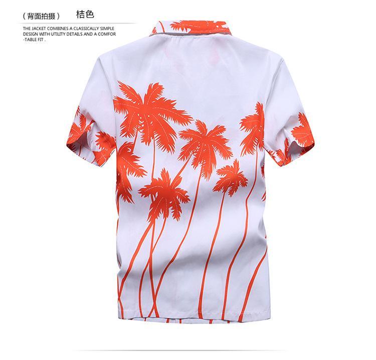 Camisa hawaiana para hombre 2018 Summer Casual Camisa Masculina Floral impreso manga corta para hombre Camisas de playa más el tamaño