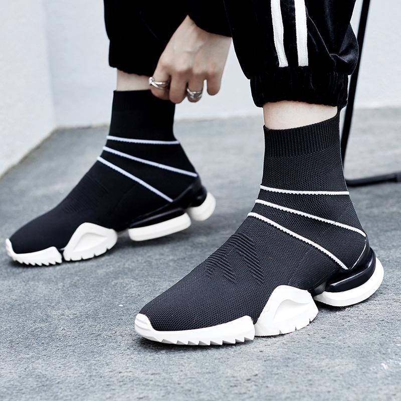 Acheter XiuNingYan 2019 Mode Femmes Chaussettes Bottes Automne Hiver Dames Chaussures  Femme Stretch Tissu Plateforme Plateforme Bottines Des Femmes De