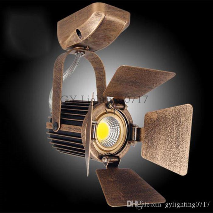 Scheinwerfer der Oberflächenmontage-COB LED beleuchtet Deckenleuchte-Retro- Schienenlichtlampe Scheunentorweinleselampen für Shopcafé