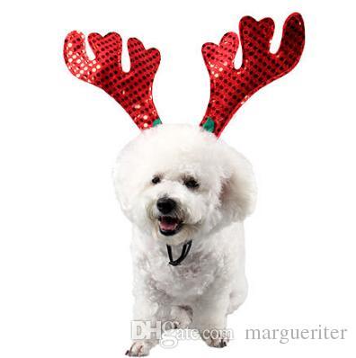 Compre Mascotas Adornos Para El Pelo De Navidad Perro Gato Navidad Elk Head  Aro Reno Pelo Aro Para Gato Perro Decoración De Navidad A  26.93 Del  Margueriter ... 2fabb59d50f