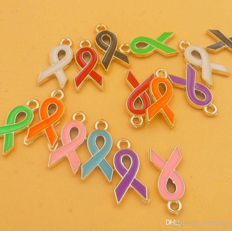 Mélangez les couleurs de vos émaux de sensibilisation au cancer du sein, mélange de bijoux, accessoires de découverte