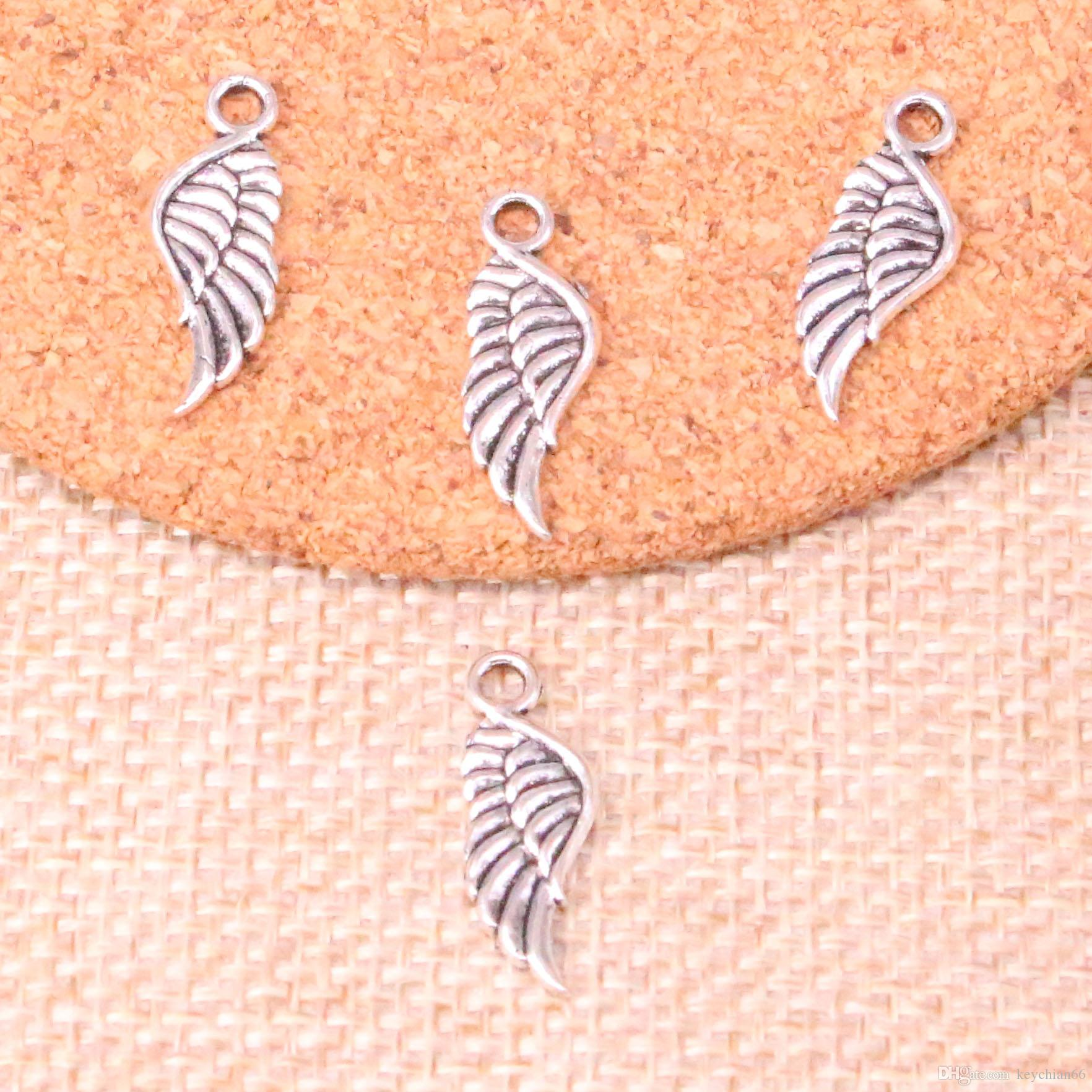3fc9d9d91 Antique Silver Angel Wings Charms Pendant Fit Bracelets Necklace DIY Metal  Jewelry Making 21*8mm Charms Pendant Online with $14.98/Piece on  Keychian66's ...