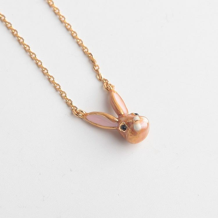 Wholesale corlorful Gold Plated lovely rabbit Necklace earrings bangle ring set