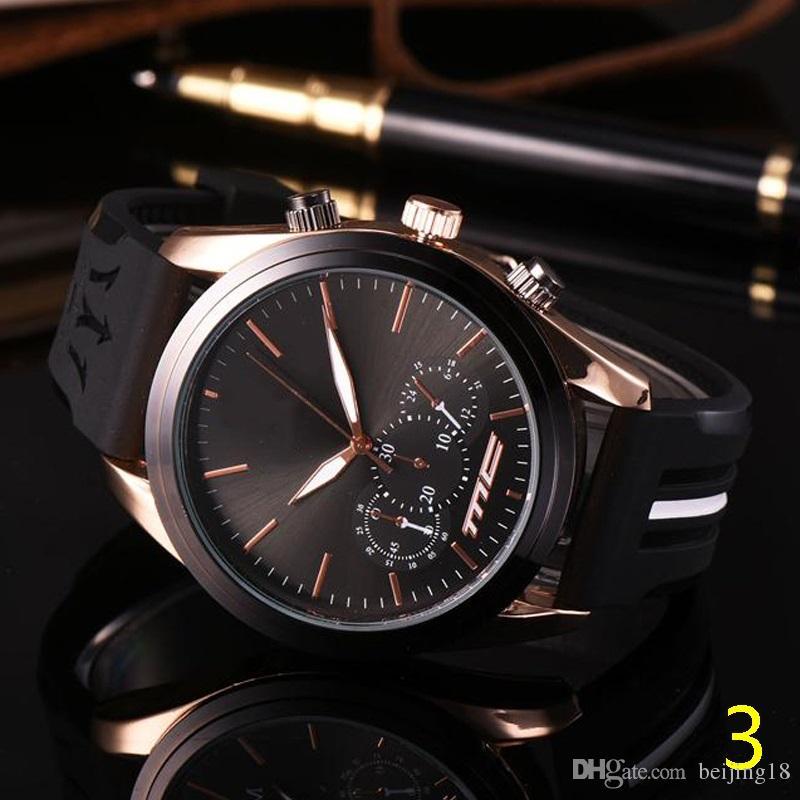 b2b1c6722a12 Compre 2019 Reloj De Pulsera Deportivo Para Hombre Marca Top Maserati Correa  De Goma Movimiento De Cuarzo Regalo Reloj De Tiempo Relojes Hombre Horloge  ...