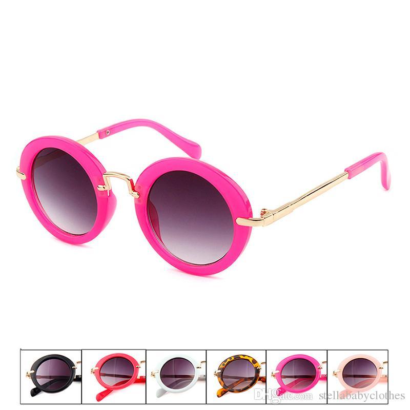 Summer Kids Round Frame Sunglasses Vintage Plastic Sunglasses Fashion Party Boys Girls Frame Sun Glasses Children Eyewear Gift