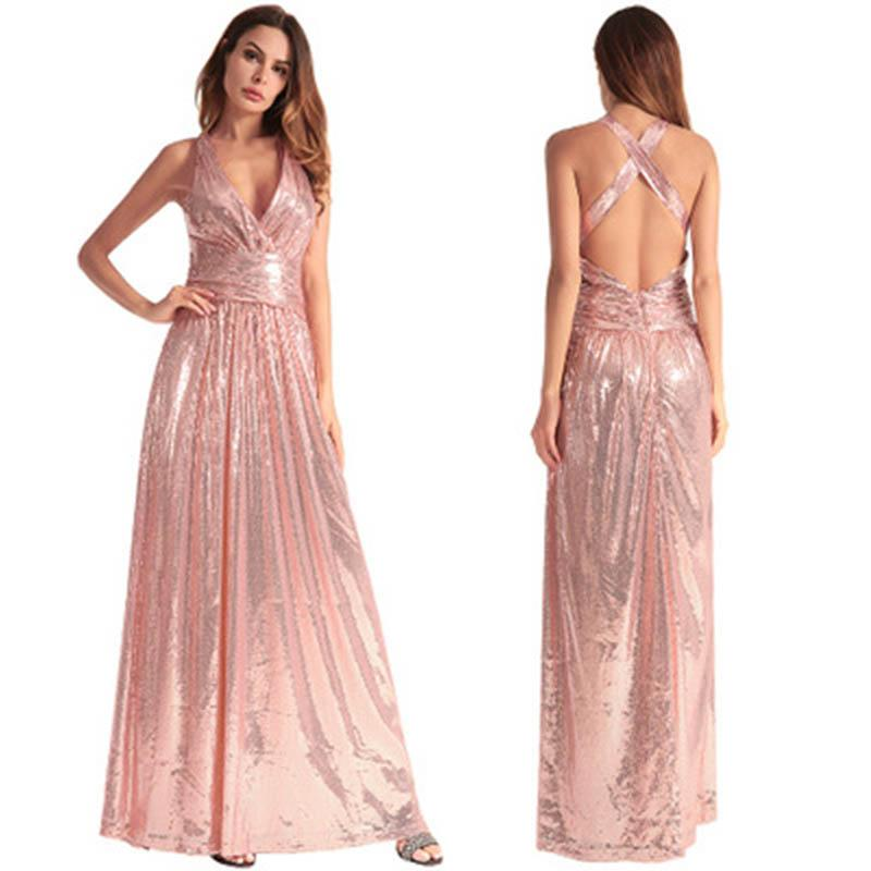 New Party Dress Women Sexy Backless Women Long Dresses 2018 Ladies ...