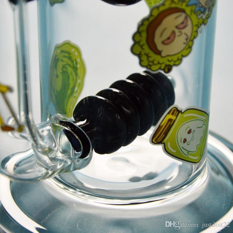 11 Zoll Neues Design Glas Bongs Bienenstock Perc Dab Rigs Ball Perc Starke Bong Wasserleitungen Mit Quarz Banger Bienenwabe Bong DGC1857