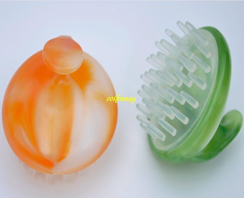 Silicone Shampoo Brush Hair Scalp Massage Brush Shower Hair Washing Comb Head Scalp Massager