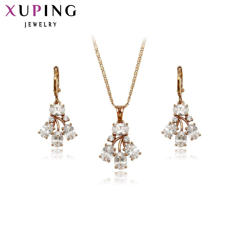 5198b295b 11.11 Xuping Fashion Jewelry Sets High Quality European Style Gold Color  Plated Earring Luxury Jewelry Gift 62495 Jewelry Sets For Brides Wedding  Jewellery ...