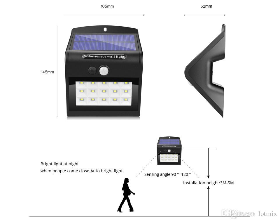Solar light Outdoor lighting Waterproof solar panel LED lamp PIR Motion Sensor energy Saving light Emergency Bulb 18650 battery