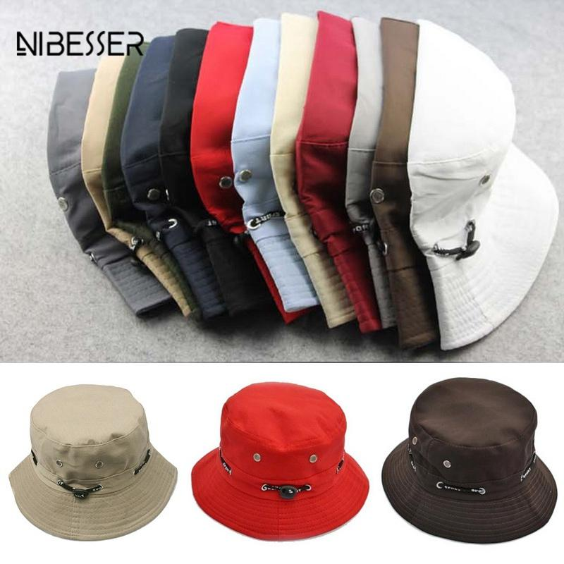 NIBESSER Fishing Bucket Hat Fashion Women Cap Unisex Bucket Hat Hip Hop  Summer Caps Beach Sun Solid Hats For Women Men Winter Hats For Women Beach  Hats From ... f6cd333a670