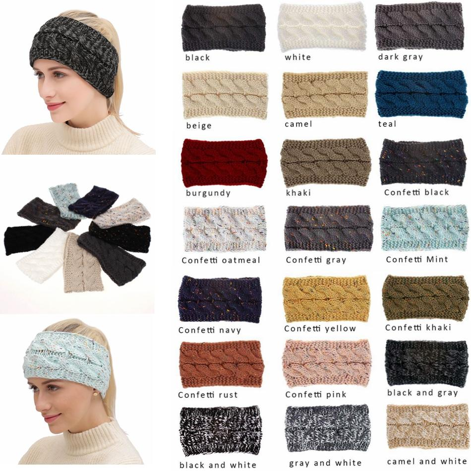 2d0004773e7 Knitted Headbands Women Winter Ears Warmer Headbands Knitted Turban  Headwrap Crochet Headband Hair Accessories MMA1061 Birthday Hat For Baby  Girl Birthday ...