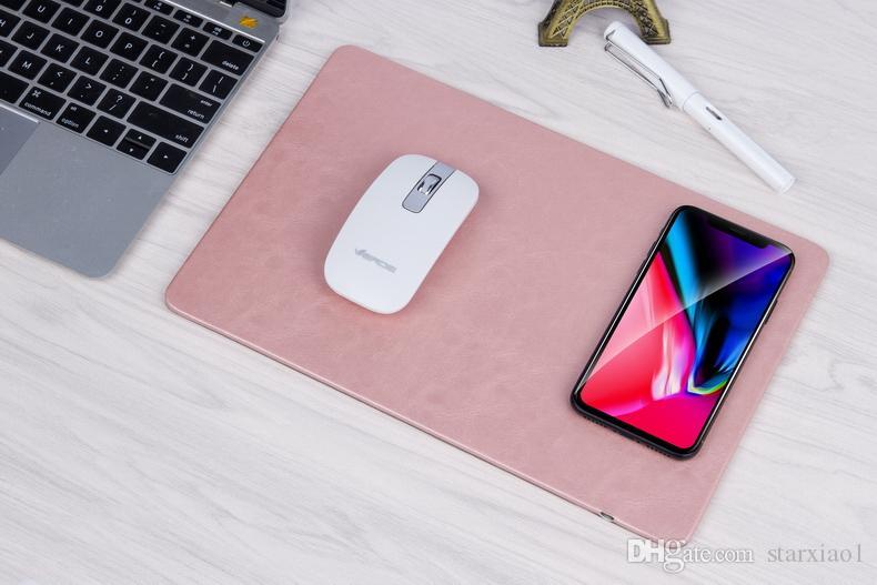 Neu kommen Computer-Mausunterlage QI-drahtloses schnelles aufladendes Ladegerät für Apple iPhone X 8 plus Handy-Gebühr Samsungs-Galaxie-S8 auf