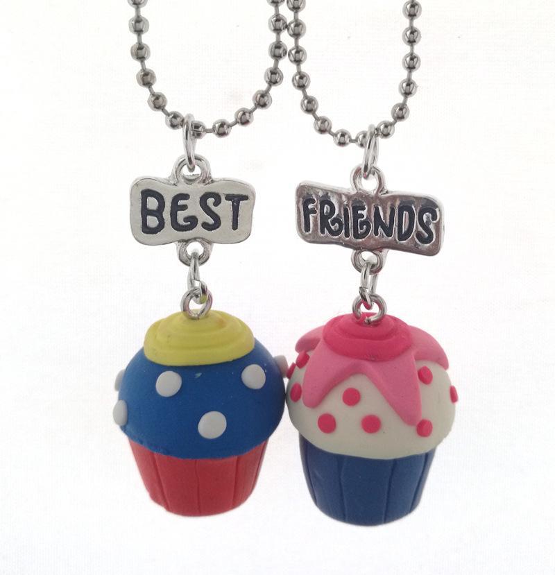 3 Unids / set Niños Amistad Helado Estéreo de Imitación BFF Collar Para Niños Mejores Amigos Para Siempre Joyas