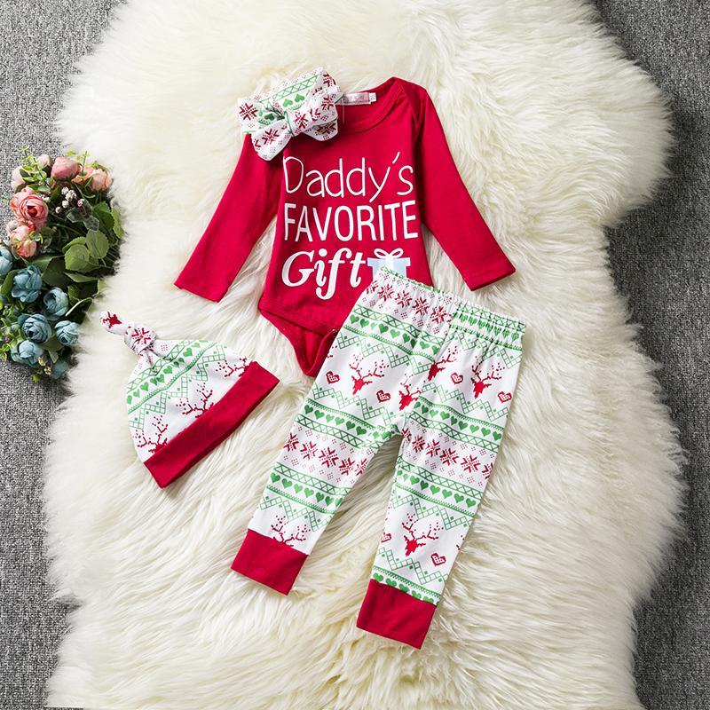 4d48c2a366ff 2019 Red New Year Santa Baby First Christmas Clothing Sets Newborn ...