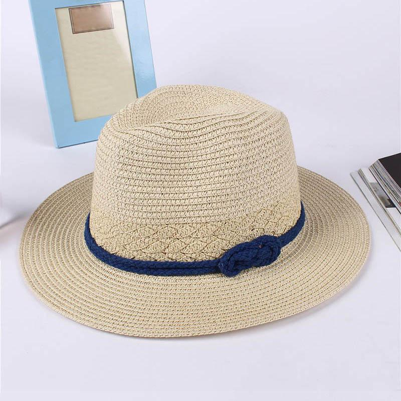 2019 Women Lady Hat Straw Beach Sun Cap Panama Summer Classic Sunhats Female  Boater ALS88 From Qingbale d557c23d4c82