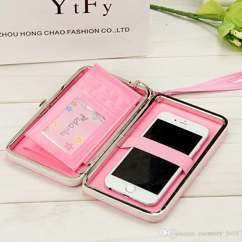 In stock Women Bowknot Wallet Long Purse Phone Card Holder Clutch Large Capacity Pocket