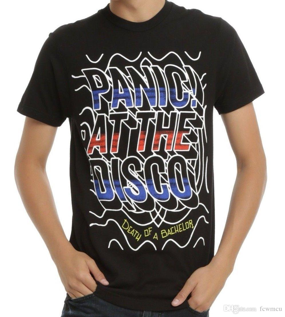 39049f1e5 Panic At The Disco DEATH OF A BACHELOR RIPPLES LOGO T Shirt Authentic &  Official Fun Shirts T Shirts Online Shopping From Fcwmcu, $10.8| DHgate.Com