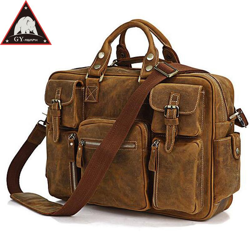 d2c0eafa2557 ANAPH Genuine Leather Briefcases Men