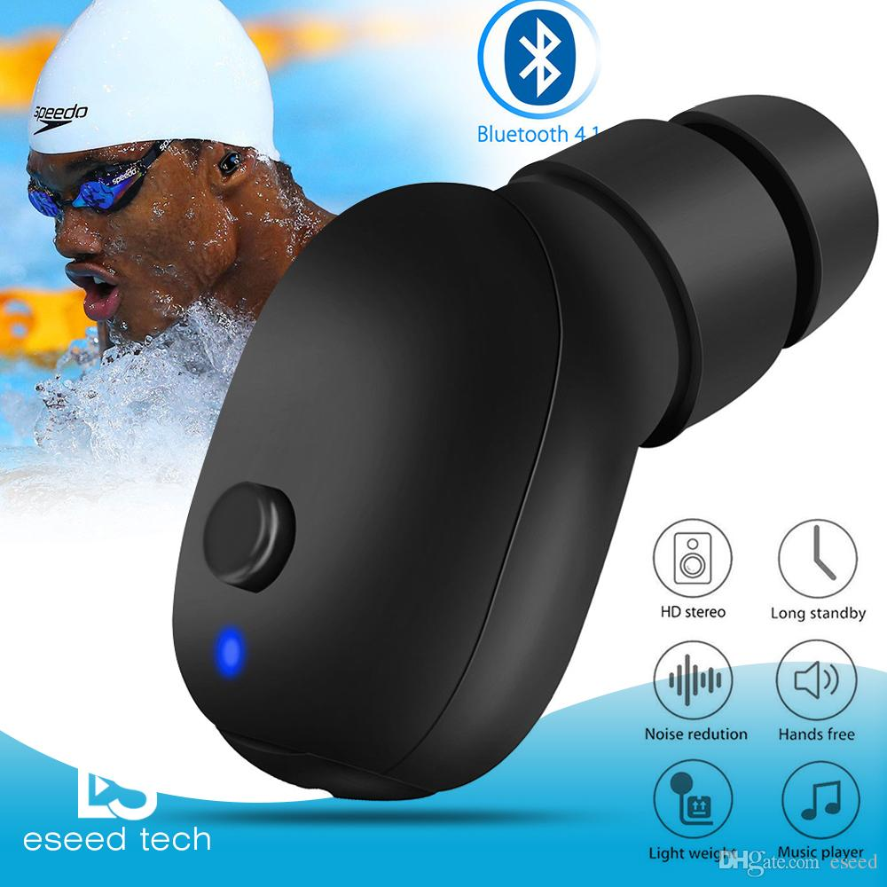 reputable site 158f8 641e6 Wireless Bluetooth Headphones Waterproof Sport Earbud Sweatproof Stable Fit  In Ear Workout Headsets for Swimming Driving iPhone X Samsung