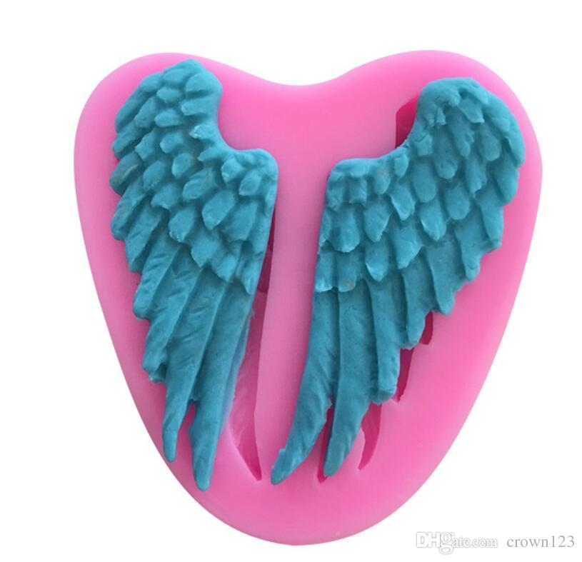 Fondant Candy Baby Sugar Modeling Silicone Mould 3D Angel Wings Cake Mold