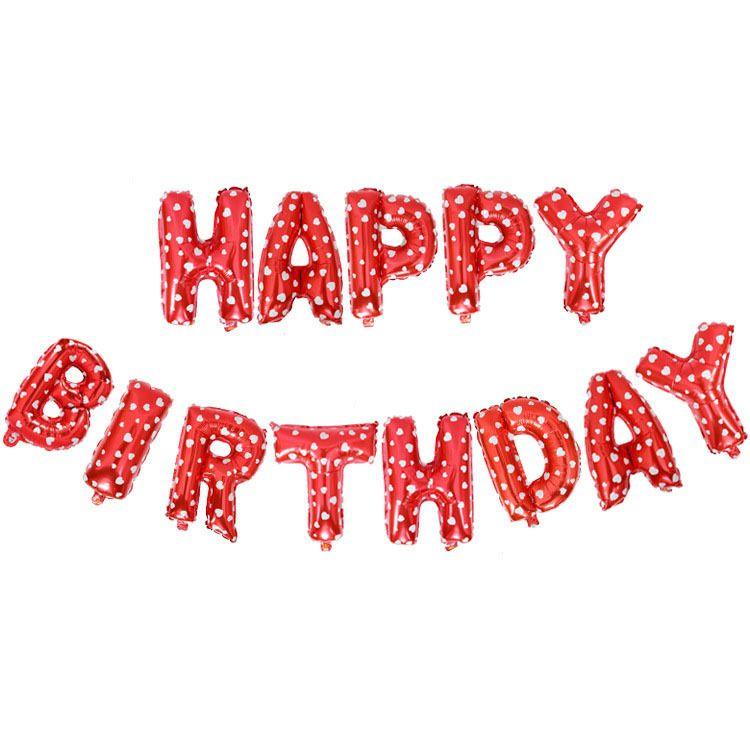 Joyeux anniversaire ballons Party Décoration NOGOO Lettres Alphabet Aluminium ballon Foil Baloon Bébé enfants air Ballons