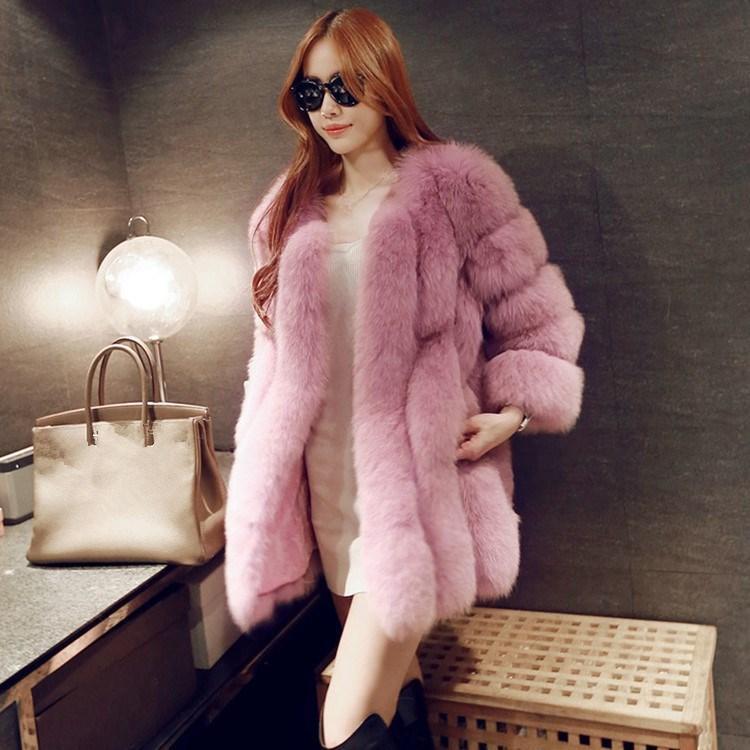 e6a521f0b 2019 Women Brand Fur Coat Winter Women Long Faux Fox Fur Coats Furry Luxury  Fake High Quality Faux Coat Jacket From Caicloth, $97.09 | DHgate.Com