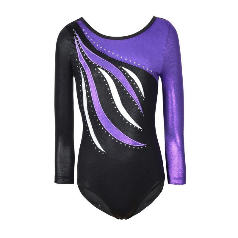 661351c7d78e Kids Child Dance Wear Girls Long Sleeve Ballet Gymnastics Body Suit  Highlight Practice Clothes Dancewear Gymnastics Leotards Ballet Dance Wear  Gymnastics ...