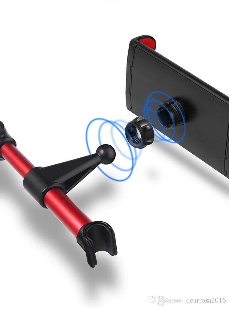 Mobile Phone Tablet PC Car Holder Stand Back Auto Seat Headrest Bracket Support Accessories for GPS DVD