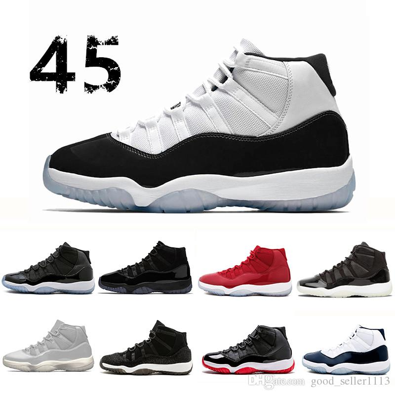 Concord 45 Prom Night XI 11s 11 Cap And Gown Men Women Basketball Shoes  Grey Suede Bred Space Jam Mens Trainers Sports Sneakers Mens Loafers  Designer Shoes ... 72873ecb87ad
