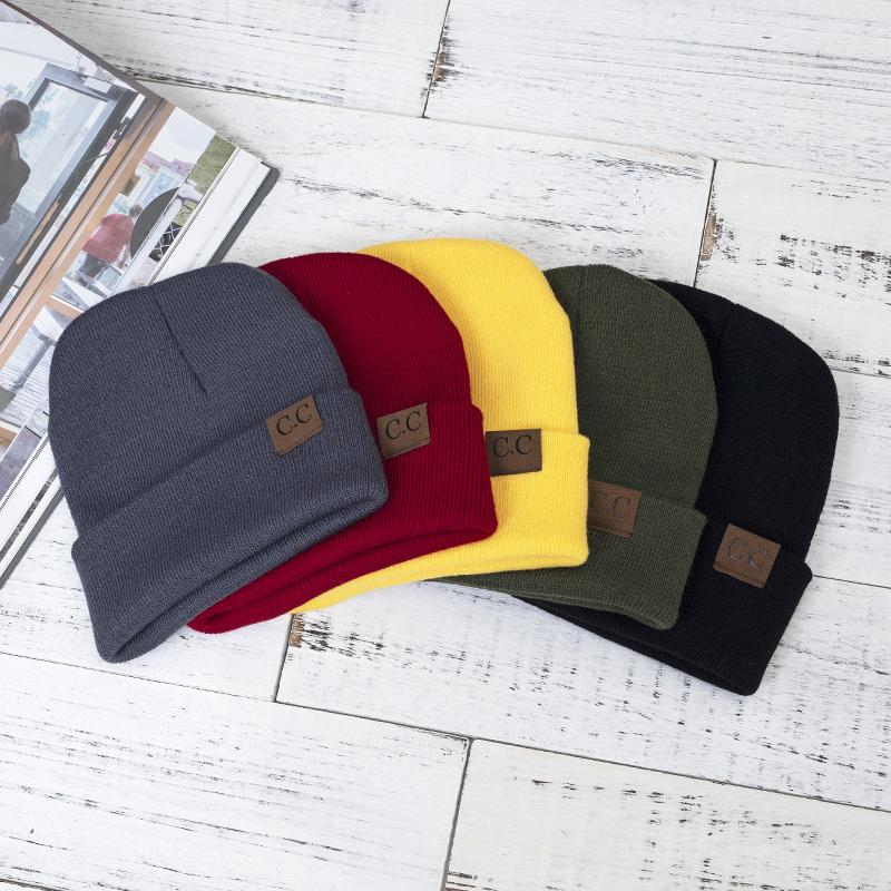 7feb83a1dae Hat Female Unisex Solid Cotton Blends CC Beanies Winter Warm Soft HIP HOP  Knitted Hats Men Skullies Winter Cap For Girls And Boy UK 2019 From  Godefery