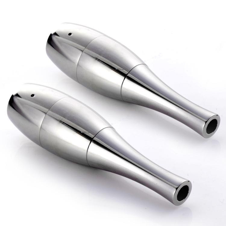Vaso canhão Bowling Atomizador cera Erva Seca herbal Vaporizador tanque de cera de Algodão Duplo bobina Dupla Bobinas Vaso De Metal Vape vaso de vapor