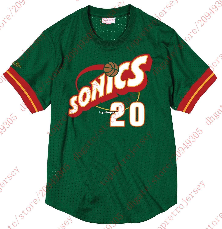 Cheap Throwbacks Custom  10 Gary Payton Mitchell   Ness Top Mesh Jersey  Green Shirt Mens Stitched Summer Tee Retro Basketball Jerseys Gary Payton  Jerseys ... d39f0efbc