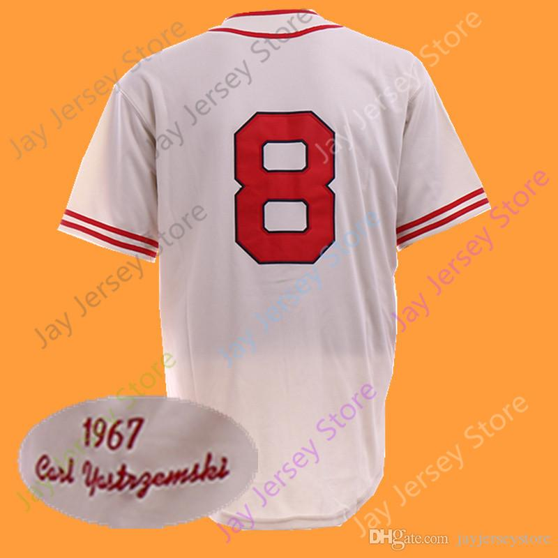 Carl Yastrzemski Jersey Cooperstown 1967 Grey Blue Cream Home Away Flexbase  Cool Base All Stitched Ted Williams Jersey Online with  22.85 Piece on ... 438948c423e