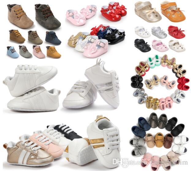 (320 styles)Fashion Toddler Baby Tassels Shoes Crib Moccasins Soft sole Slip-on Baby Prewalker First walkers 0-18months