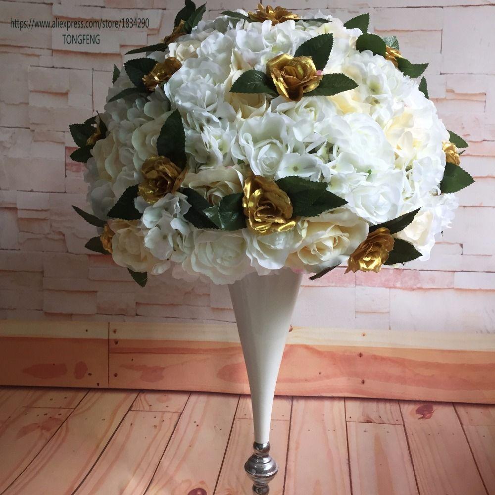 Großhandel 50 Cm 2 Teile Los Hochzeit Blume Wand Künstliche Silk