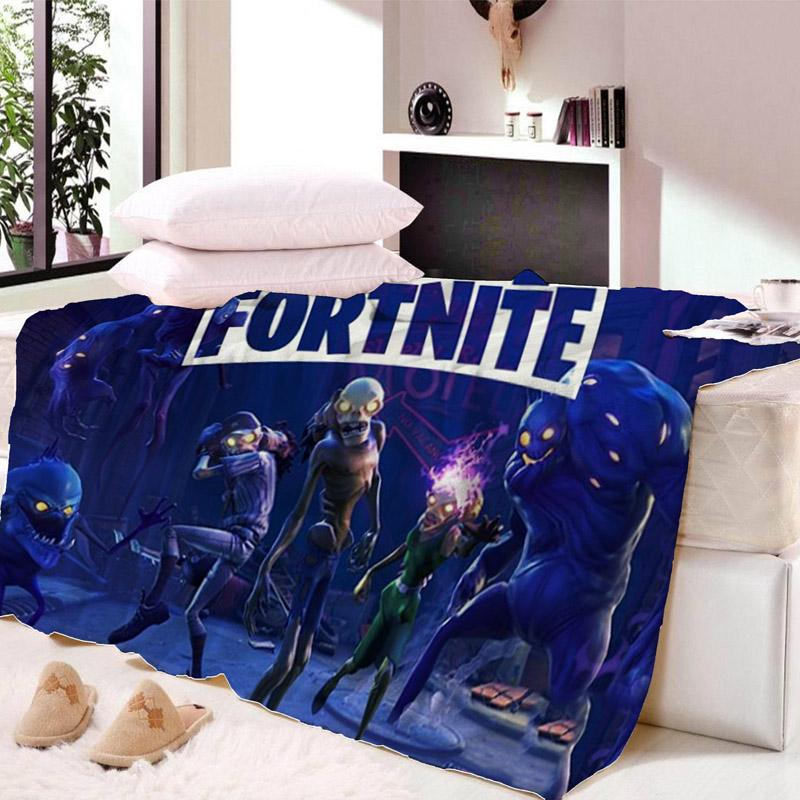 Fortnite Nights Fur Blanket Double Layers Ultra Soft Pv