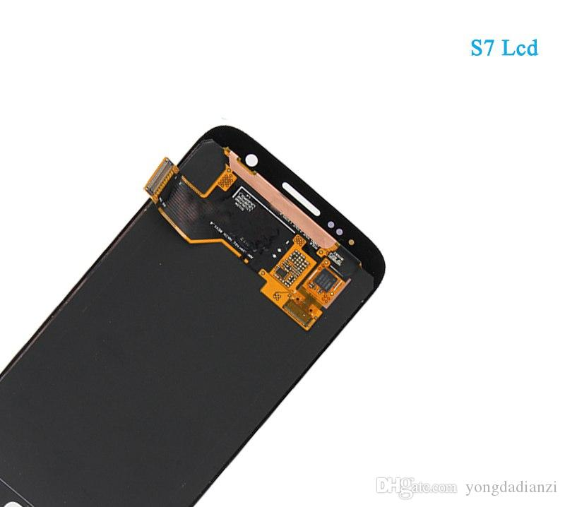 For Original SAMSUNG GALAXY S7 G930A G930F SM-G930F LCD Display Touch Screen Digitizer Assembly Pantalla Replacement For SAMSUNG S7 LCD