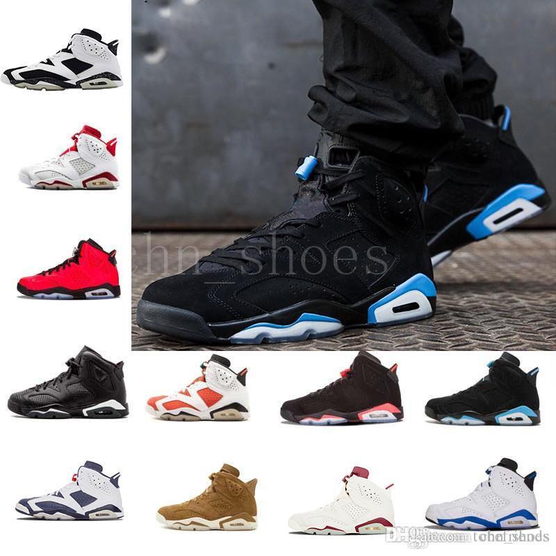 065a5cdf350e2d 6s Carmine Basketball Shoes Classic 6 UNC Black Blue White Infrared Low  Chrome Men Sports Red Oreo Alternate Oreo Black Cat Designer Sneaker  Basketball ...