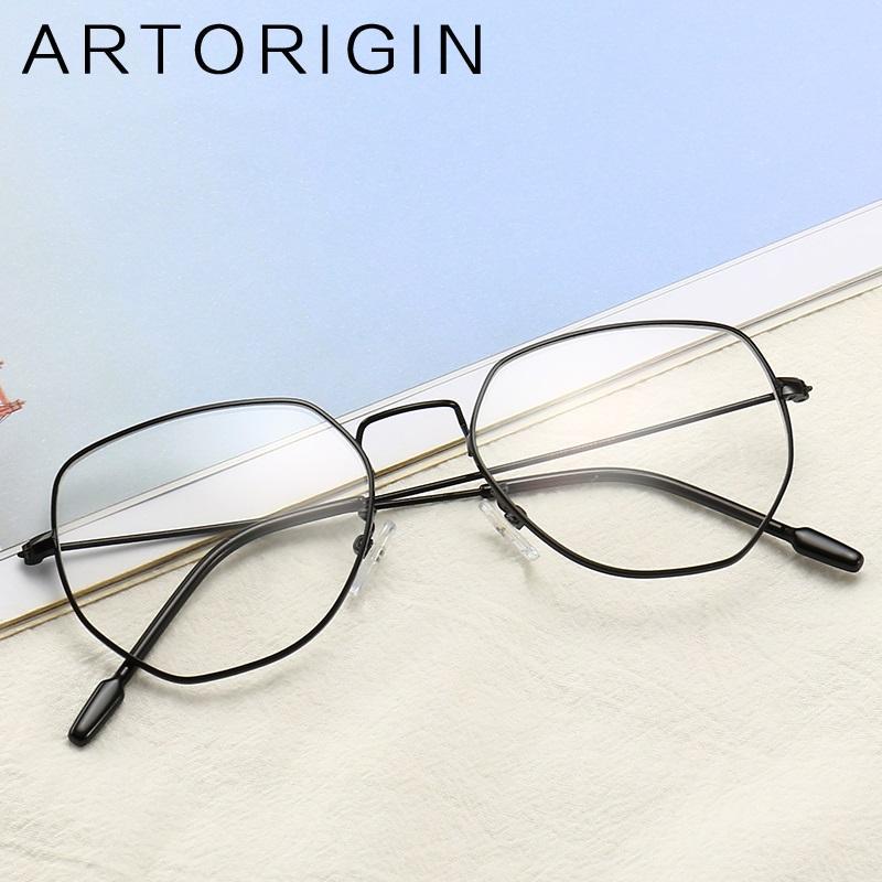 708a995fe1 2019 ARTORIGIN Stylish Irregular Glasses Frame Transparent Glasses Fro  Women Flat Top Eyeglasses Metal Optical Frames Myopia From Shuidianba