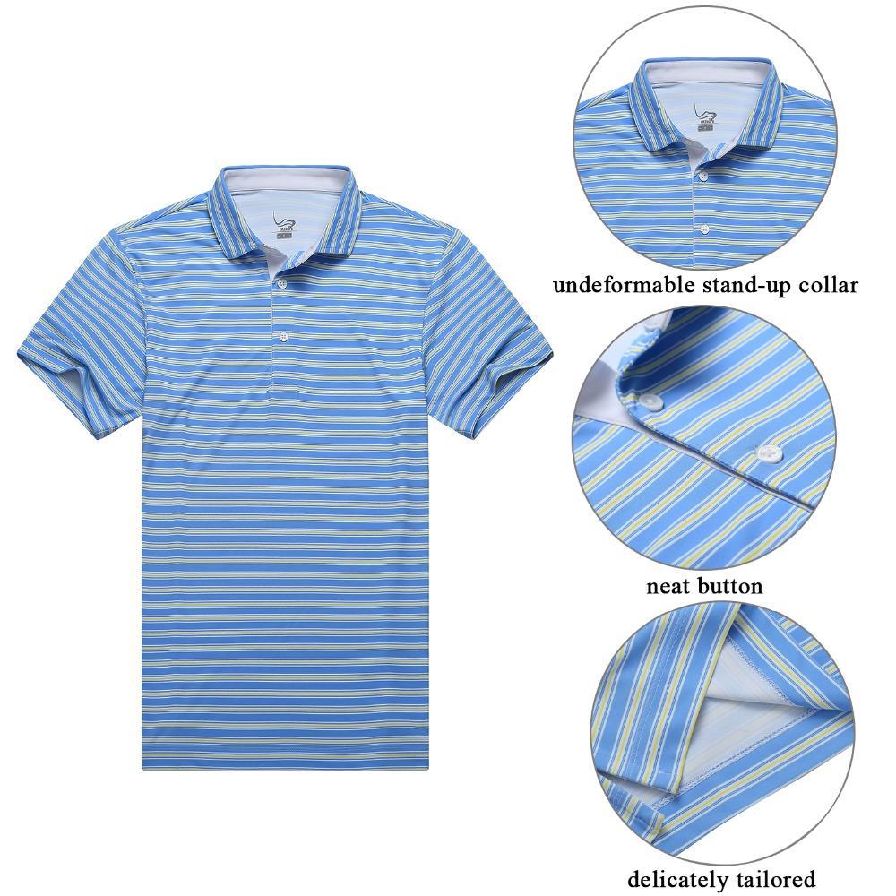 2019 Eagegof Polyester Short Sleeve Performance Golf Polo Shirt