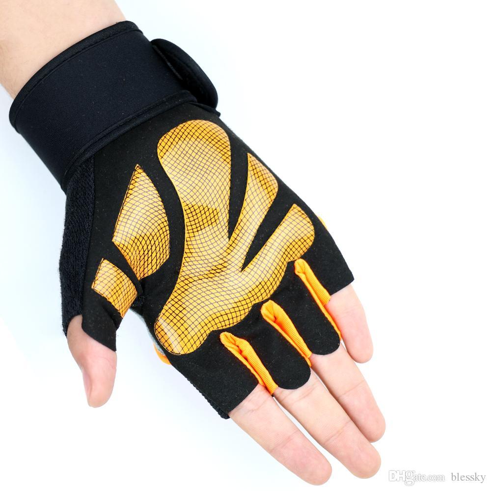 Women Men Anti-skid Breathable Gym Gloves Body Building Training Sport Dumbbell Fitness Exercise Half finger Gloves