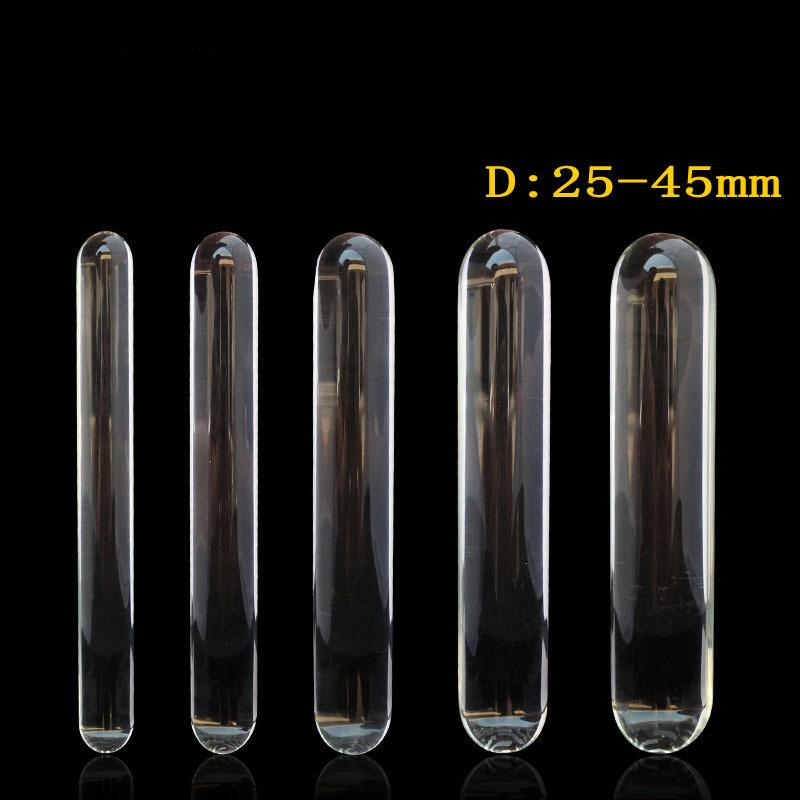 230mm long transparent glass dildo huge big penis double dildo anal plug adult sex toys for woman lesbian large dildos butt plug Y18110504